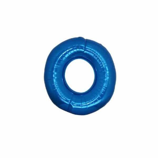 palloncino numero mylar 0 piccolo blu