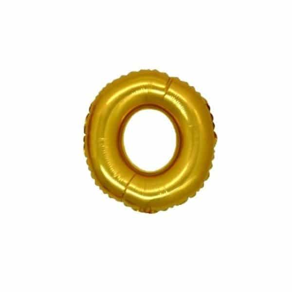 palloncino numero mylar 0 piccolo oro