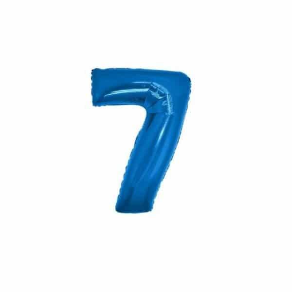 palloncino numero mylar 7 piccolo blu