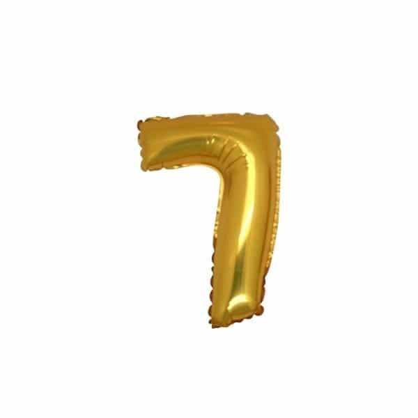palloncino numero mylar 7 piccolo oro