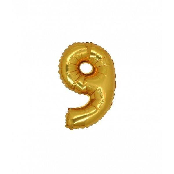 palloncino numero mylar 9 piccolo oro