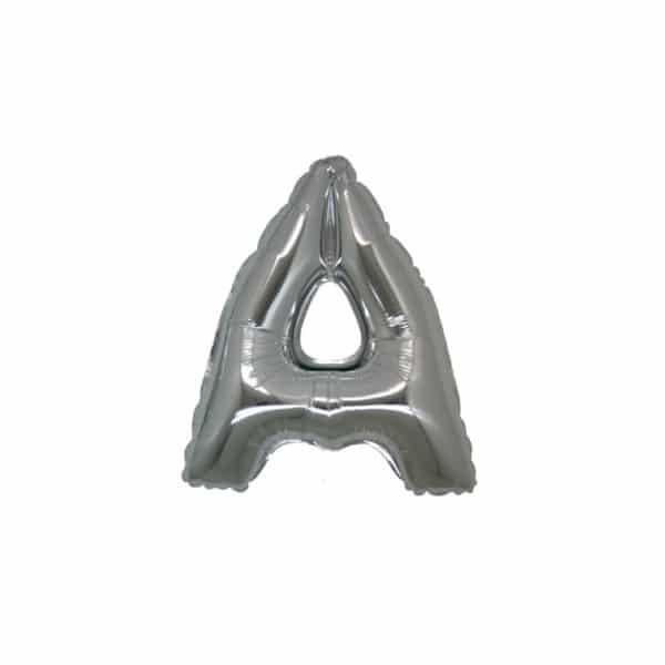 palloncini forma lettera A argento