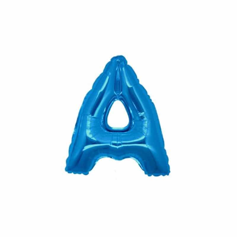 palloncini forma lettera A blu