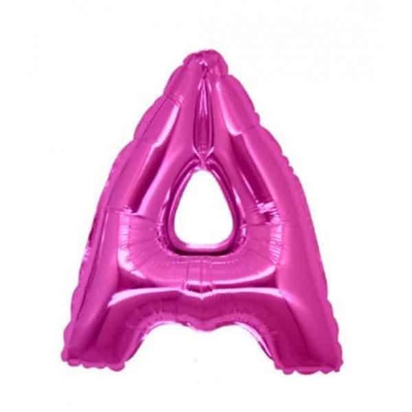 palloncini forma lettera A fucsia lettere medie
