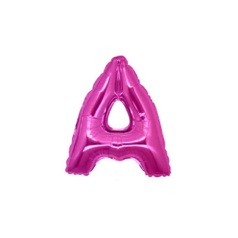 palloncini forma lettera A fucsia