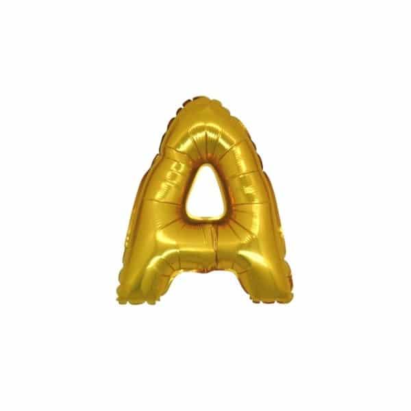 palloncini forma lettera A oro