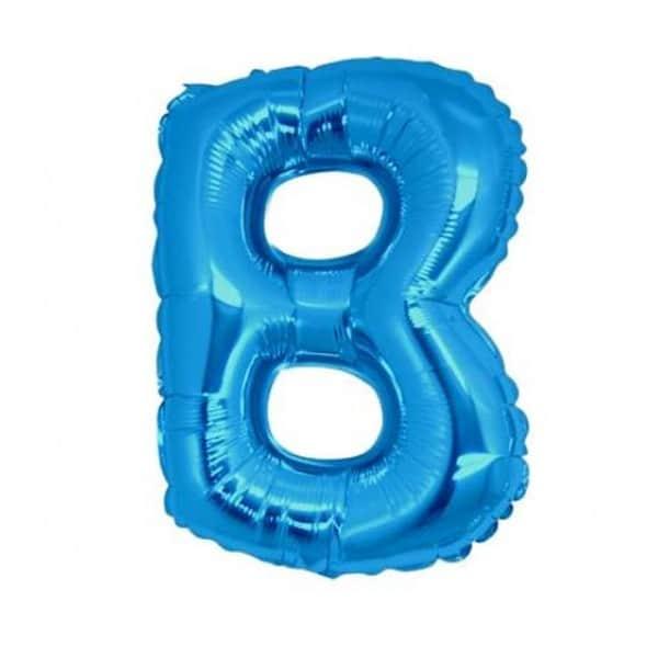 palloncini forma lettera B blu lettere medie