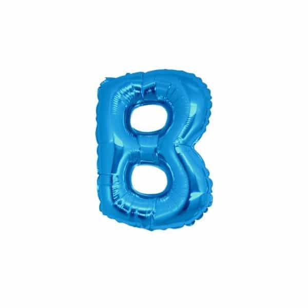 palloncini forma lettera B blu