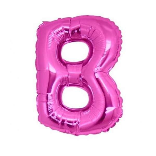 palloncini forma lettera B fucsia lettere medie