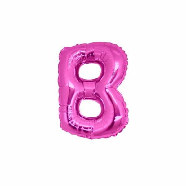 palloncini forma lettera B fucsia