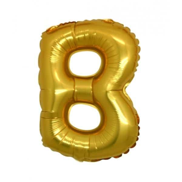 palloncini forma lettera B oro lettere medie