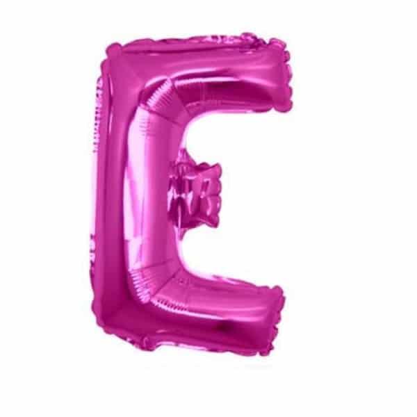 palloncini forma lettera E fucsia lettere medie