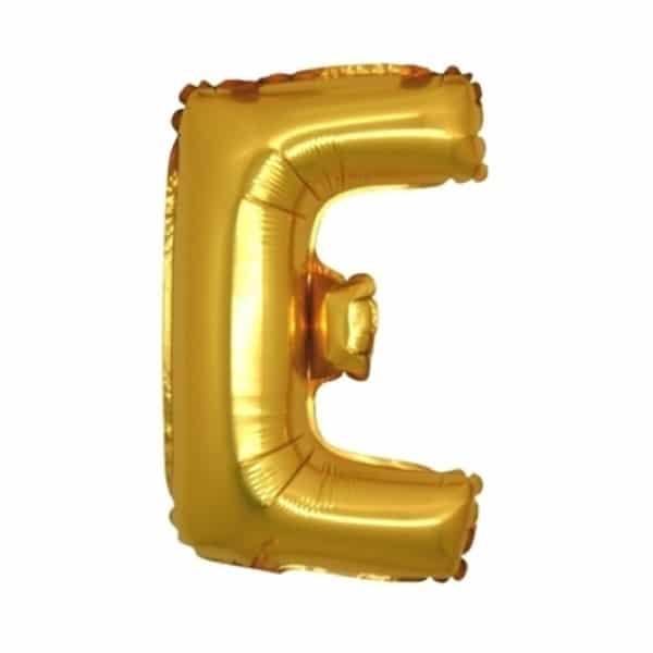 palloncini forma lettera E oro lettere medie