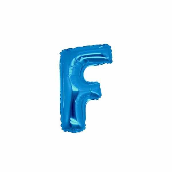 palloncini forma lettera F blu lettere piccole