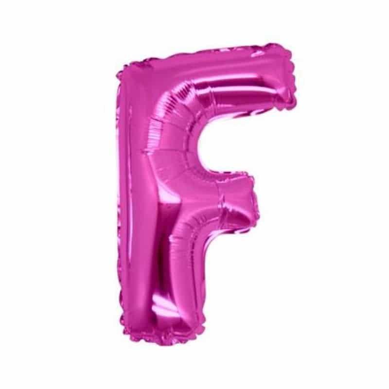 palloncini forma lettera F fucsia lettere medie