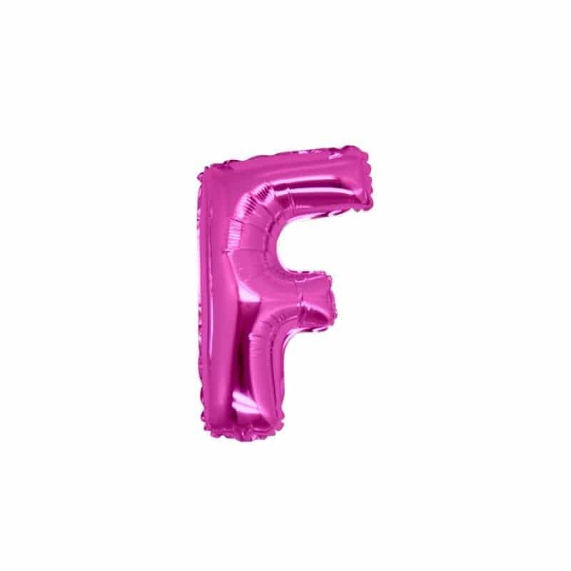 palloncini forma lettera F fucsia lettere piccole