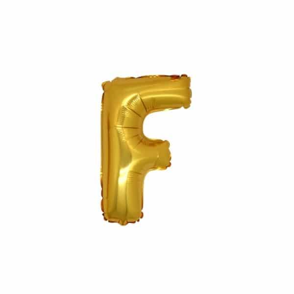 palloncini forma lettera F oro lettere piccole