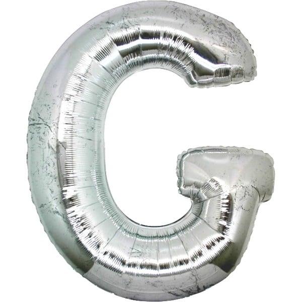 palloncini forma lettera G argento lettere giganti