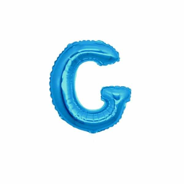 palloncini forma lettera G blu lettere piccole