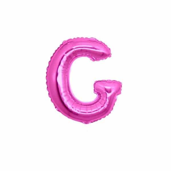 palloncini forma lettera G fucsia lettere piccole
