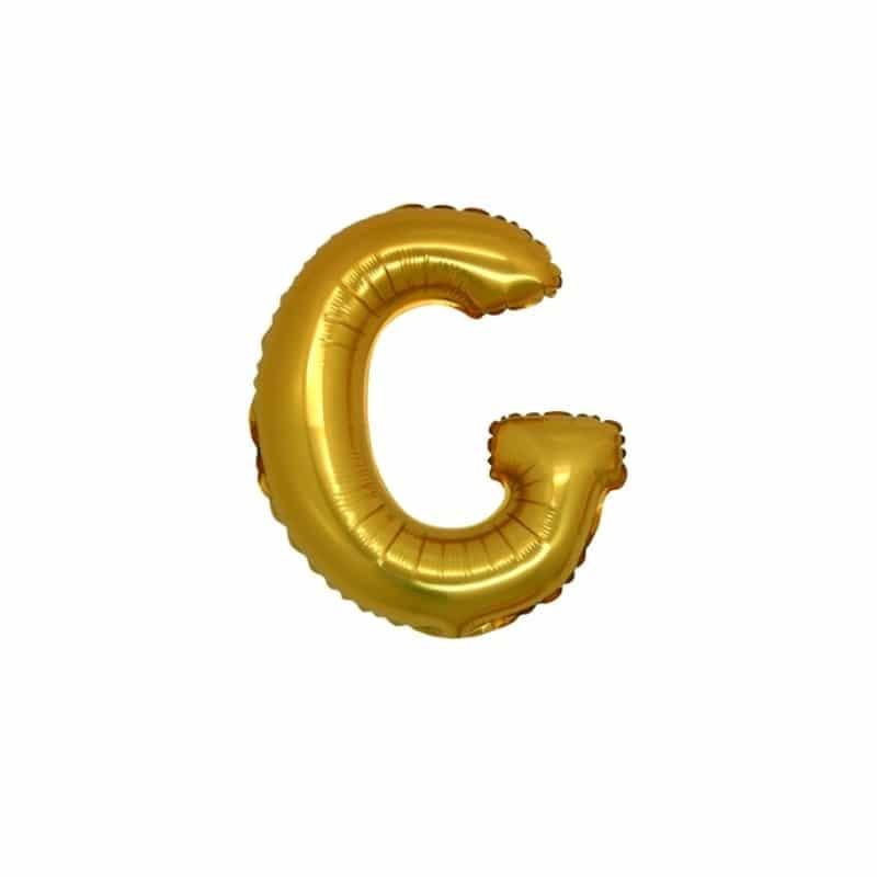 palloncini forma lettera G oro lettere piccole
