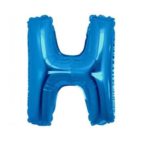 palloncini forma lettera H blu lettere medie