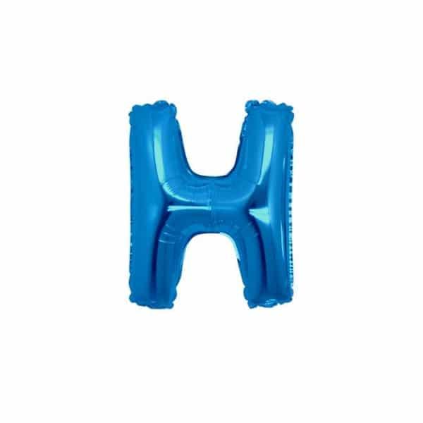 palloncini forma lettera H blu lettere piccole