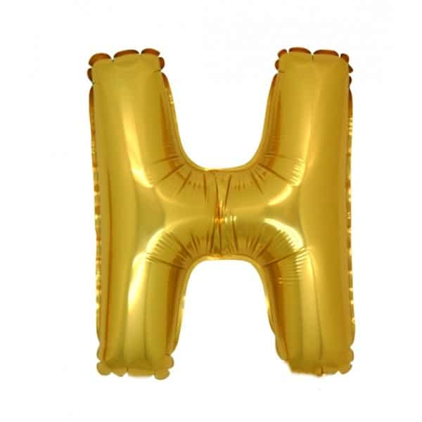 palloncini forma lettera H oro lettere medie