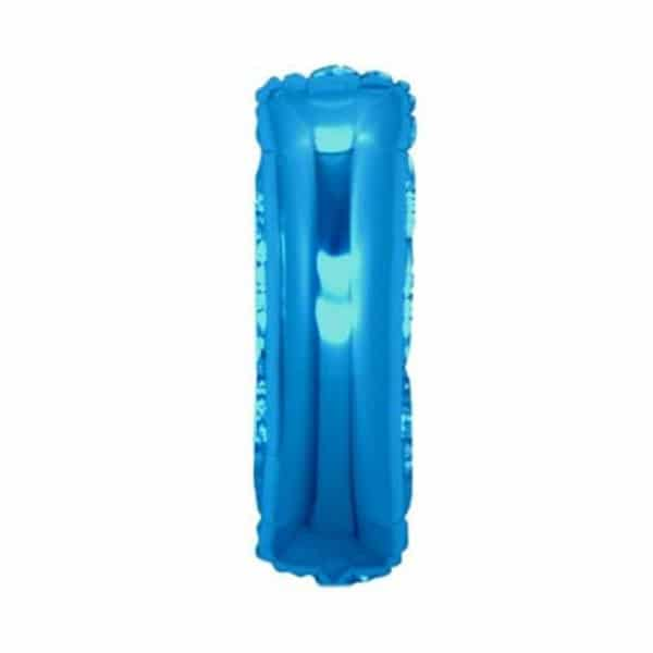 palloncini forma lettera I blu lettere medie