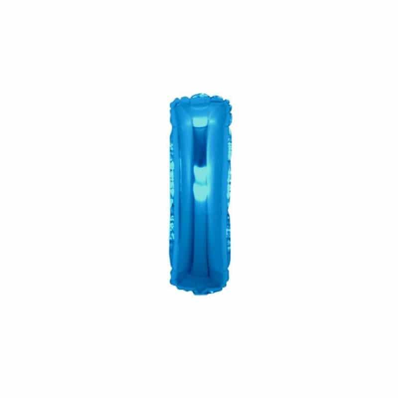 palloncini forma lettera I blu lettere piccole