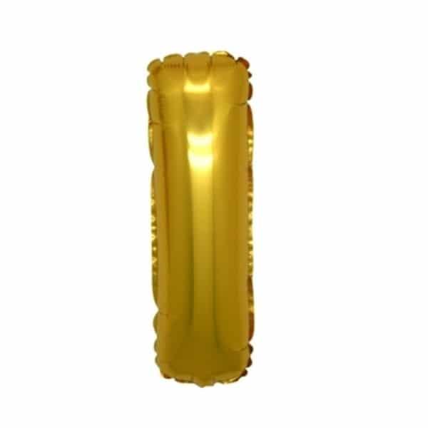 palloncini forma lettera I oro lettere medie