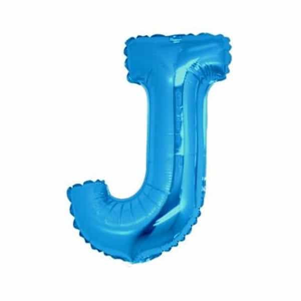 palloncini forma lettera J blu lettere medie