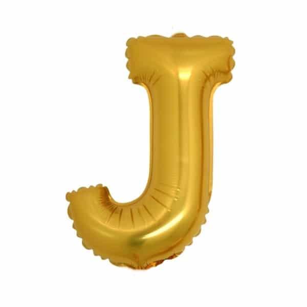 palloncini forma lettera J oro lettere medie