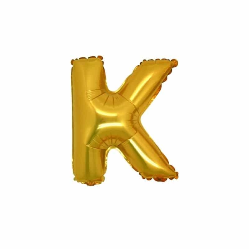 palloncini forma lettera K oro lettere piccole
