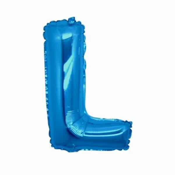 palloncini forma lettera L blu lettere medie