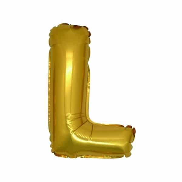 palloncini forma lettera L oro lettere medie