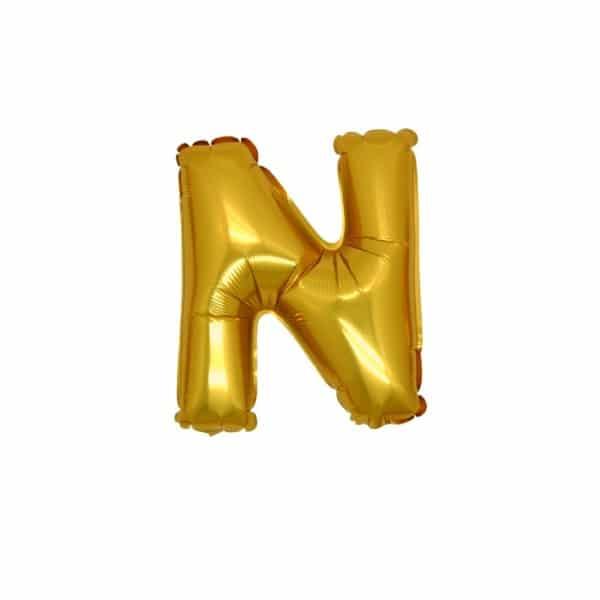 palloncini forma lettera N ORO lettere piccole