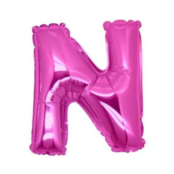 palloncini forma lettera N fucsia lettere medie