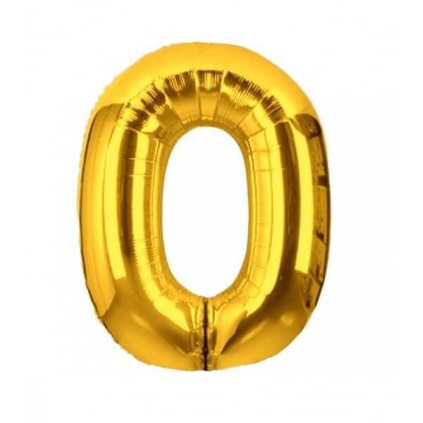 palloncini forma lettera O oro lettere medie