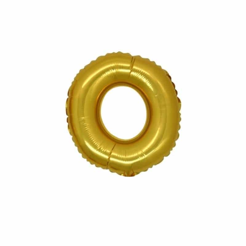 palloncini forma lettera O oro lettere piccole