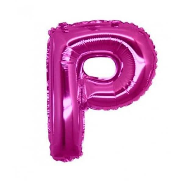 palloncini forma lettera P fucsia lettere medie