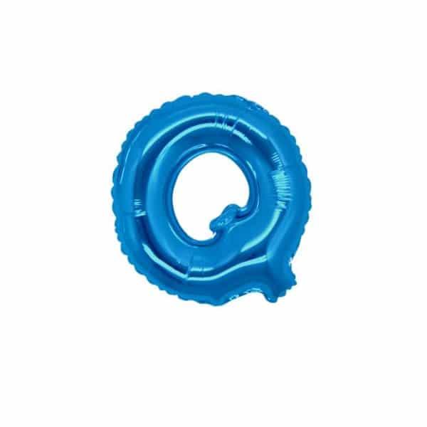 palloncini forma lettera Q blu lettere piccole