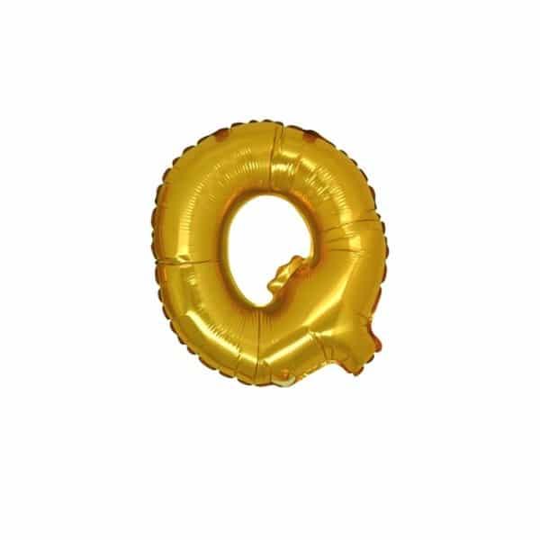 palloncini forma lettera Q oro lettere piccole