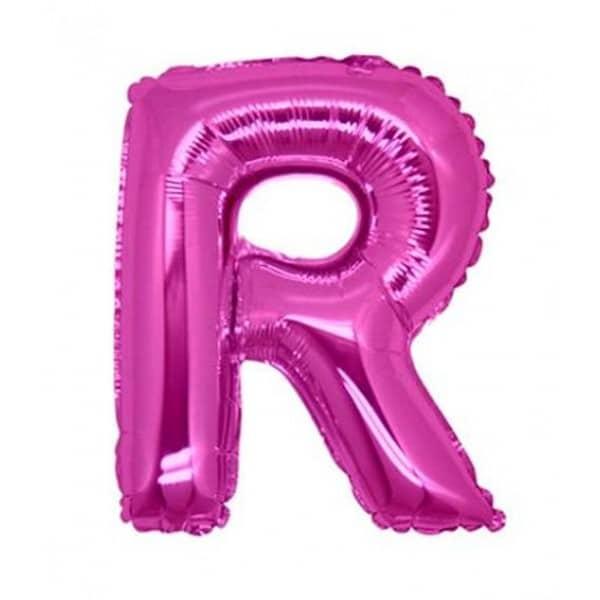 palloncini forma lettera R fucsia lettere medie