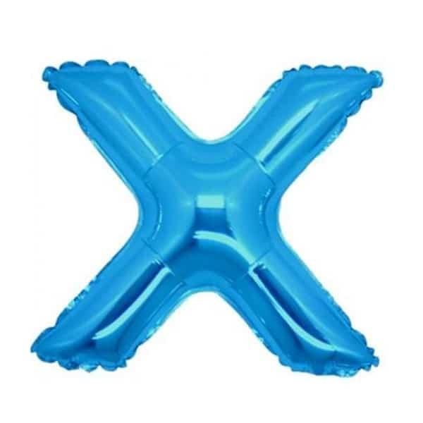 palloncini forma lettera X blu lettere medie