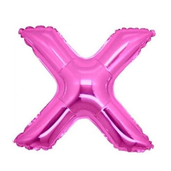 palloncini forma lettera X fucsia lettere medie