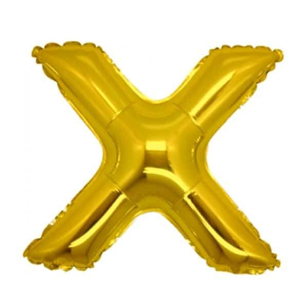 palloncini forma lettera X oro lettere medie