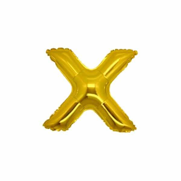 palloncini forma lettera X oro lettere piccole
