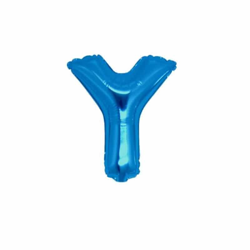 palloncini forma lettera Y blu lettere piccole