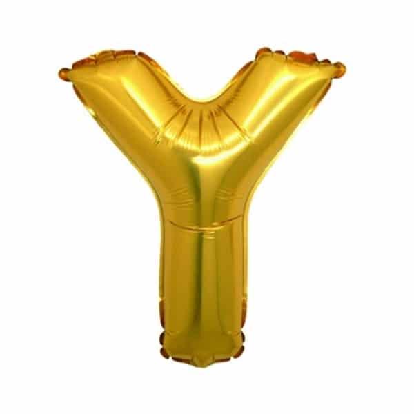 palloncini forma lettera Y oro lettere medie